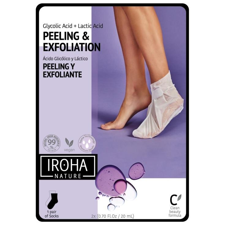 iroha calcetines mascarilla para pies exfoliación progresiva lavanda