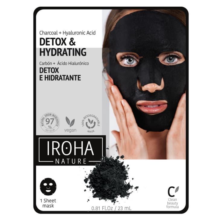 iroha mascarilla tissu detox-carbón