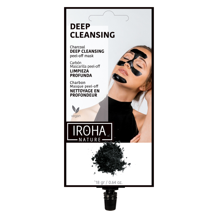 IROHA MASCARILLA FACIAL PEEL-OFF DETOX - CARBÓN