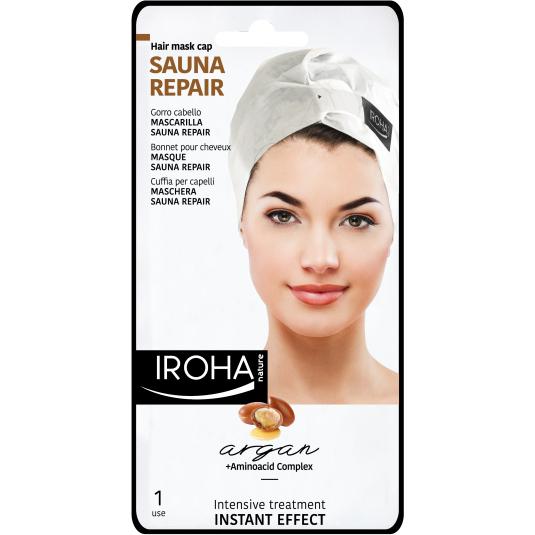 iroha mascarilla gorro para cabello sauna repair