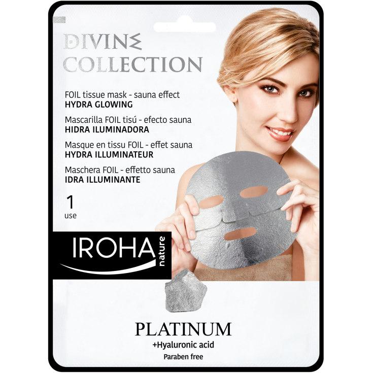 iroha mascarilla tissu platinium divine collection 25ml