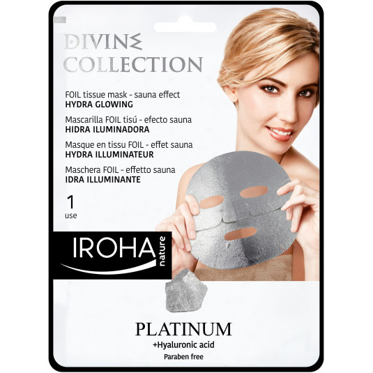 IROHA MASCARILLA TISSU PLATINIUM DIVINE COLLECTION 25ML