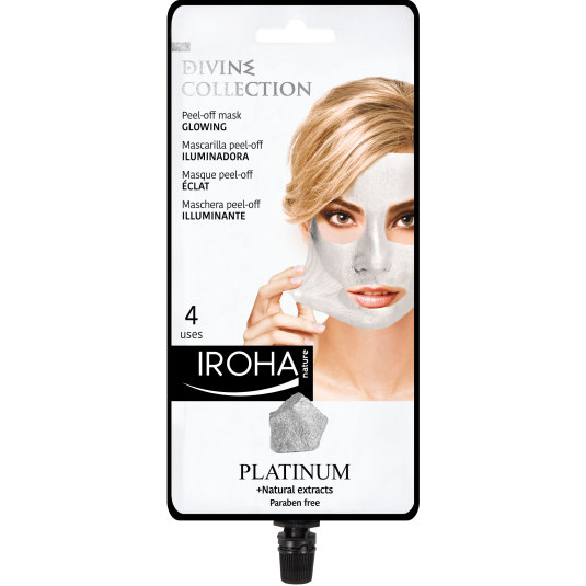 iroha mascarilla facial peel-off platinium divine collection
