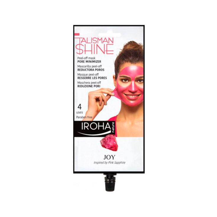iroha peel-off rosa mascarilla facial reductora poros