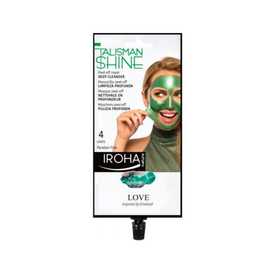 iroha peel-off verde mascarilla facial limpieza profunda 1ud
