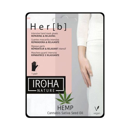 iroha nature hemp guantes mascarilla corporal intensiva reparadora y relajante