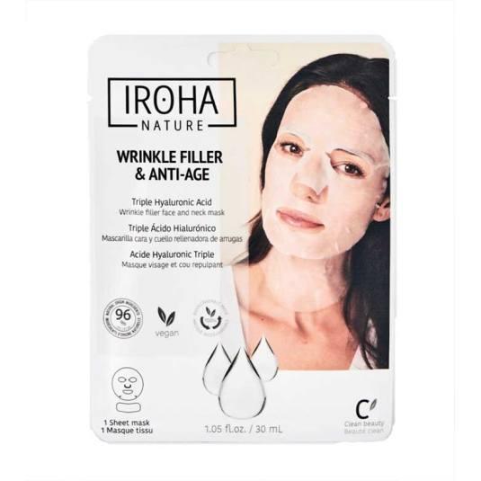 iroha nature wrinkle filler & anti-age mascarilla facial antiedad 1 unidad