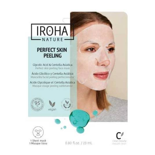 iroha nature perfect skin peeling mascarilla facial acido glicolico 1 unidad