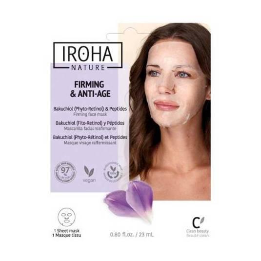 iroha nature firming & anti-age mascarilla facial bakuchiol y peptidos 1 unidad