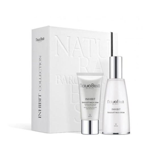natura bisse inhibit collection neck serum set 2 piezas