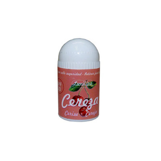 luxilips cherry balsamo labial sabor cereza spf30 mini