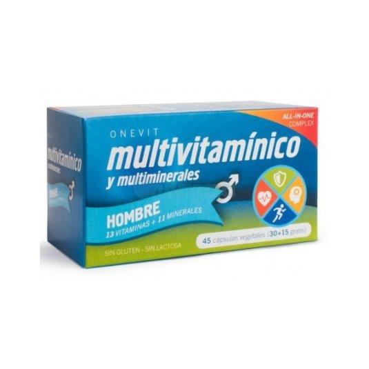 onevit complemento alimenticio multivitaminico hombres 45 capsulas