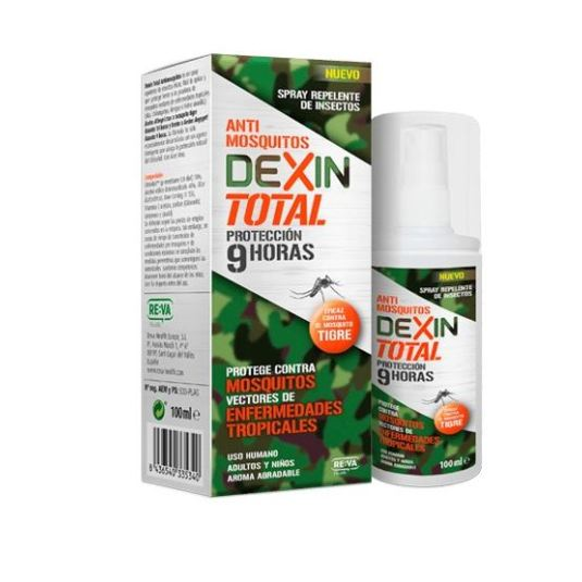 dexin total repelente anti mosquitos 9h spray 100ml
