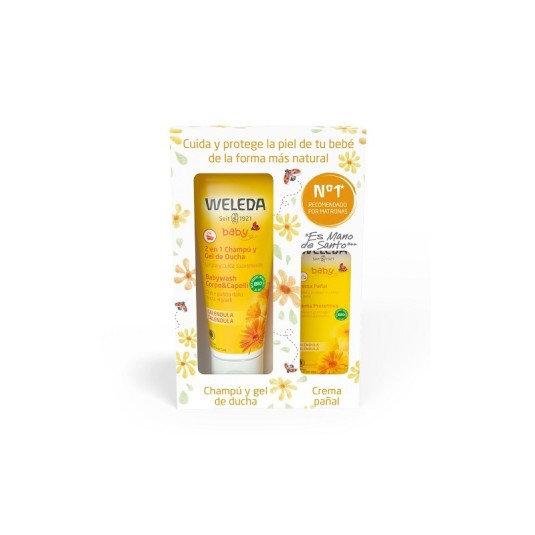 weleda bebe pack champu y gel 200ml + crema pañal 30ml