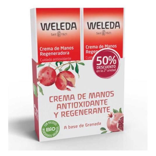 weleda crema de manos granada 50ml 2 unidad 50%