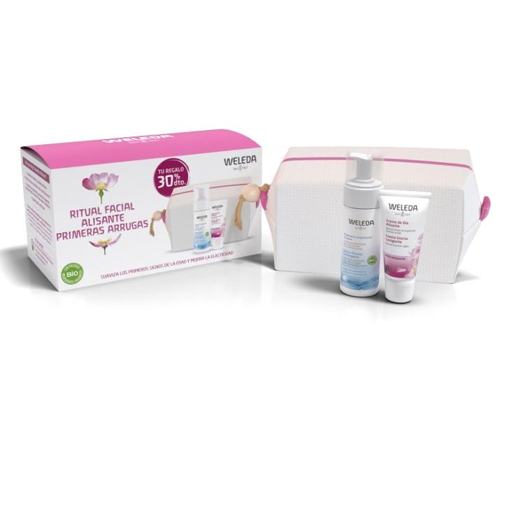 weleda pack facial crema dia y noche rosa + neceser regalo