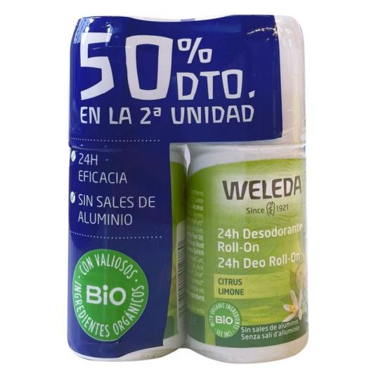 weleda desodorante roll-on citrus duplo 2x50ml