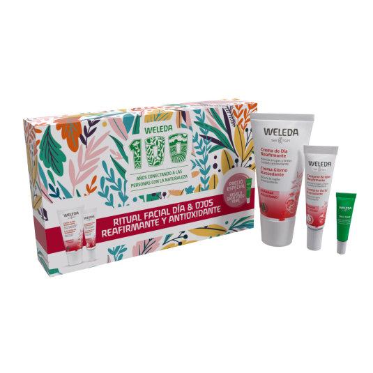 weleda pack ritual facial dia y ojos reafirmante y antioxidante granada set 3 piezas