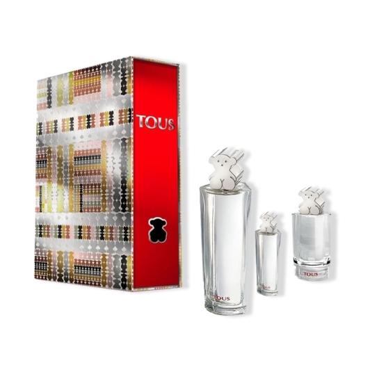 tous eau de toilette 90ml tartan folder cofre 3 piezas