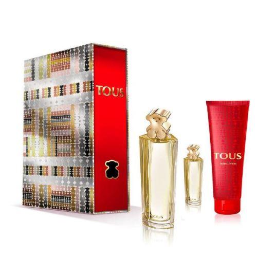 tous eau de parfum 90ml tartan folder cofre regalo 3 piezas