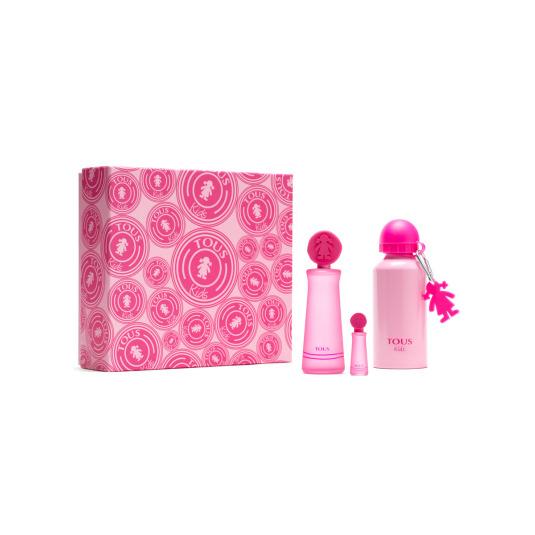 tous eau de toilette tous kids cofre rosa regalo 3 piezas