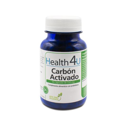 h4u carbon activado probiotico 550mg 90 capsulas