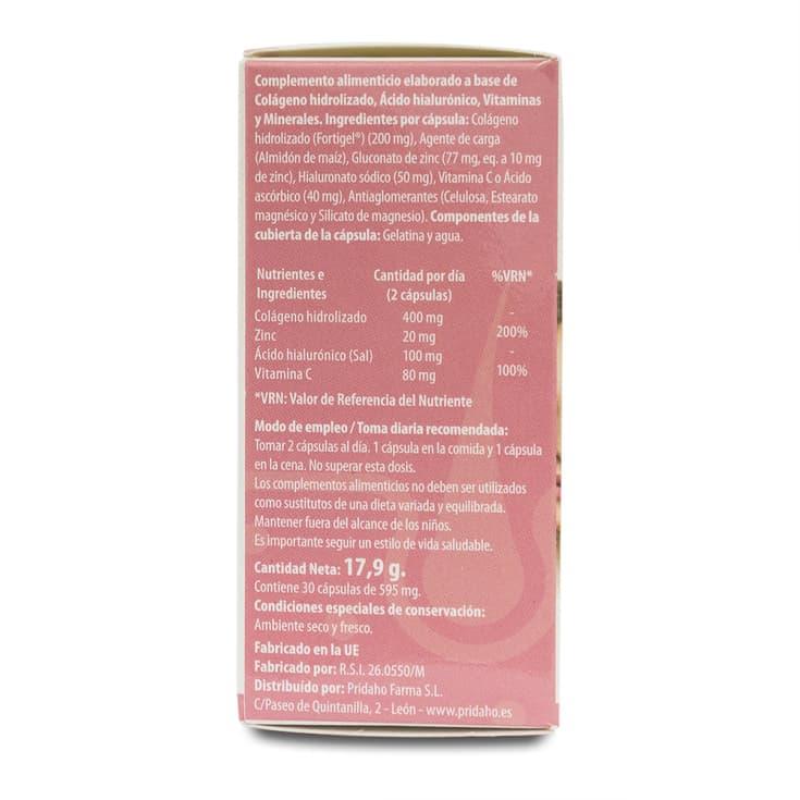 h4u colágeno + ácido hialurónico 30 cápsulas de595 mg