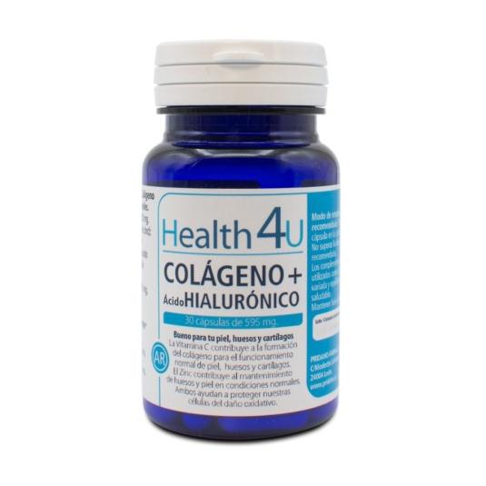 h4u colageno + acido hialuronico 30 capsulas de595 mg