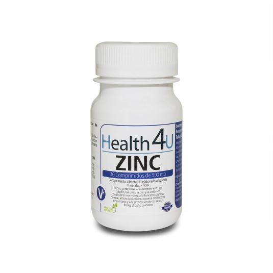 h4u zinc 30 comprimidos 500mg