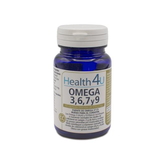 h4u omega 3, 6,7y 9 60 capsulas blandas de 658,2 mg