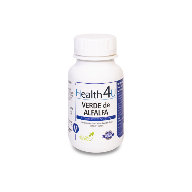 h4u verde alfalfa 700mg 60 cápsulas