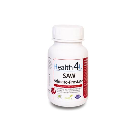 h4u saw palmeto-prostate 600mg 60 cápsulas