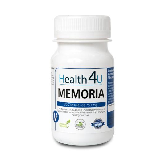 h4u memoria 750mg 30 cápsulas