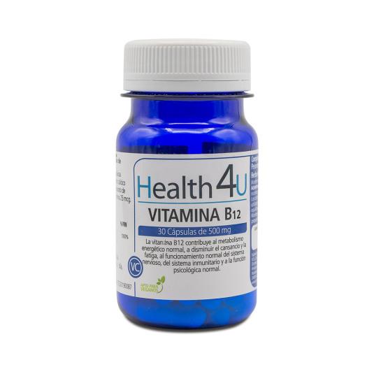 h4u vitamina b12 500mg 30 capsulas