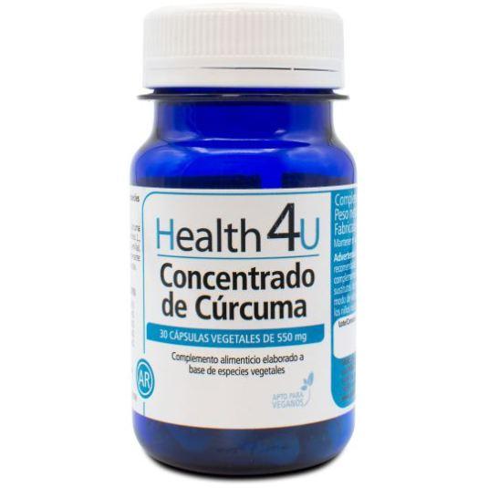 h4u concentrado de curcuma 30 capsulas vegetales de 550mg