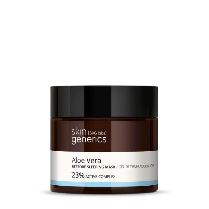 skin generics gel regenerador noche aloe vera 23% complejo activo 50ml