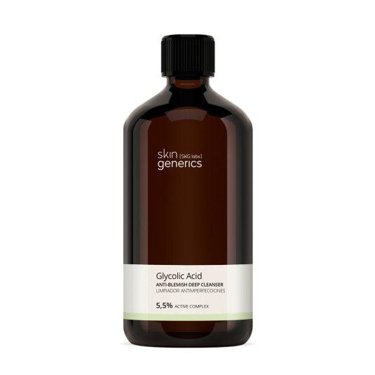 skin generics limpiador antimperfecciones de noche acido glicolico 5,5% complejo activo 250ml