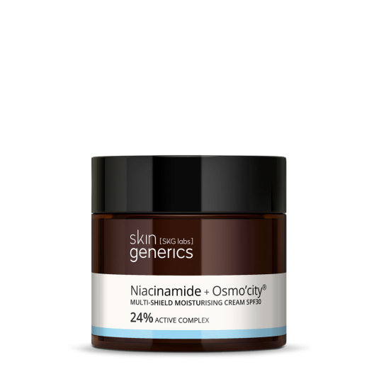 skin generics crema multi-proteccion spf30 niacinamide + osmo'city 24% complejo activo 50ml