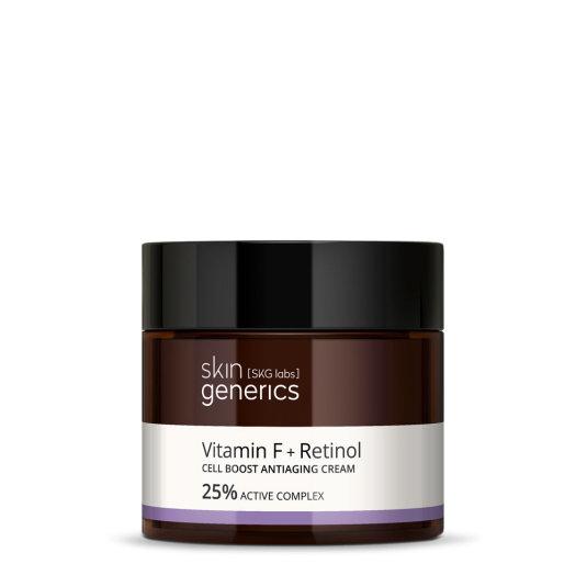 skin generics crema regeneradora antiedad vitamina f + retinol 25% complejo activo 50ml