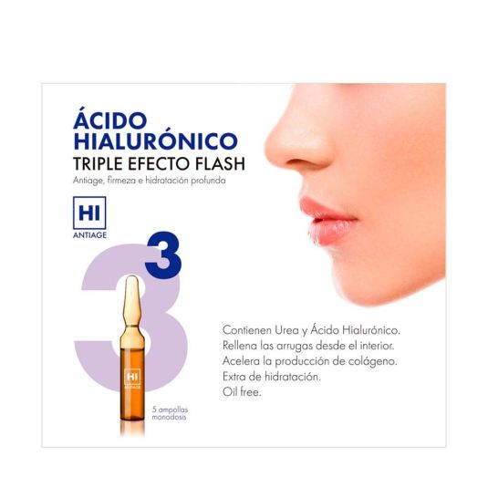 hi antiage acido hialuronico triple efecto flash ampollas faciales 5 unidades