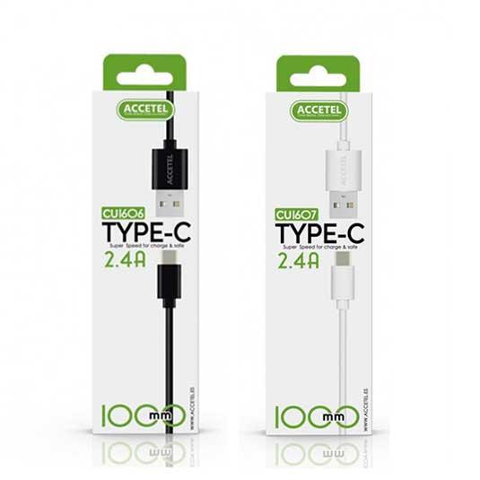 accetel cable datos 2.4a tipo c 1 metro