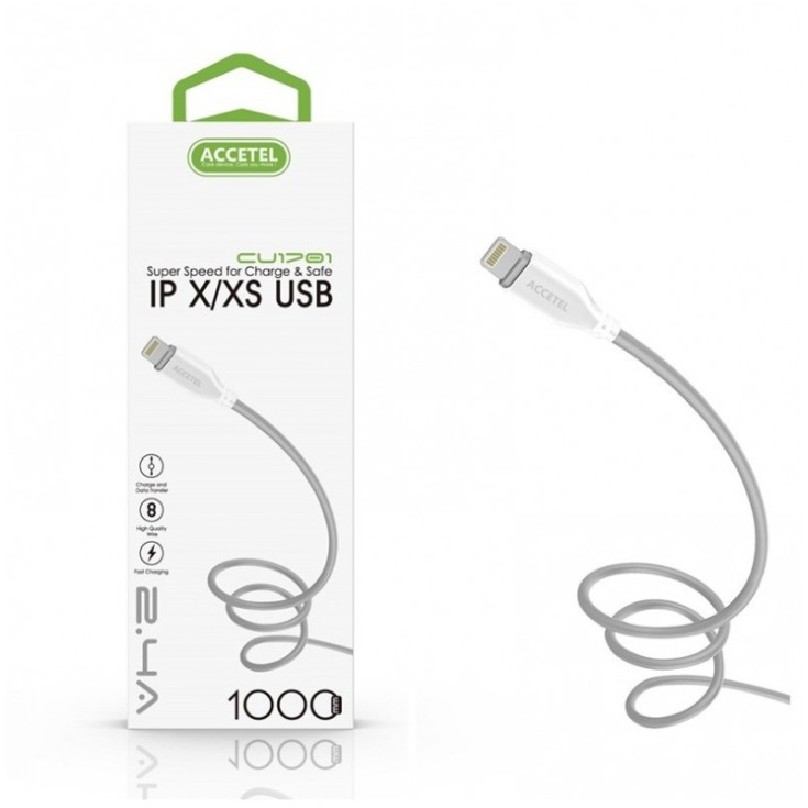accetel cable datos tpe 2.1a - iphone x 1 metro