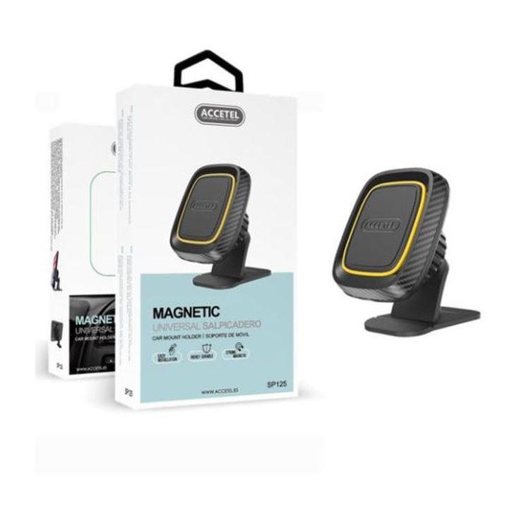 accetel soporte magnetico salpicadero negro