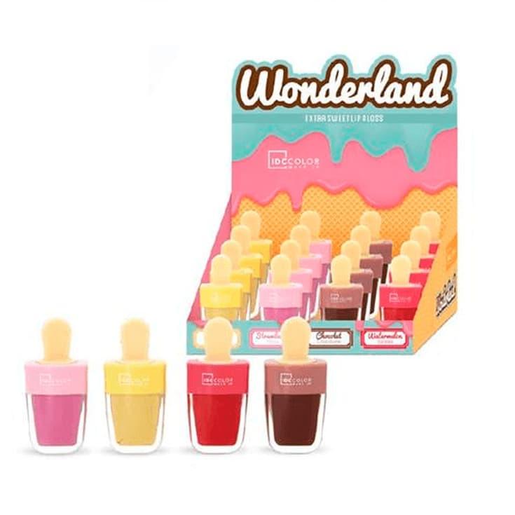 idc colors wonderland lip gloss bálsamo labial forma helado