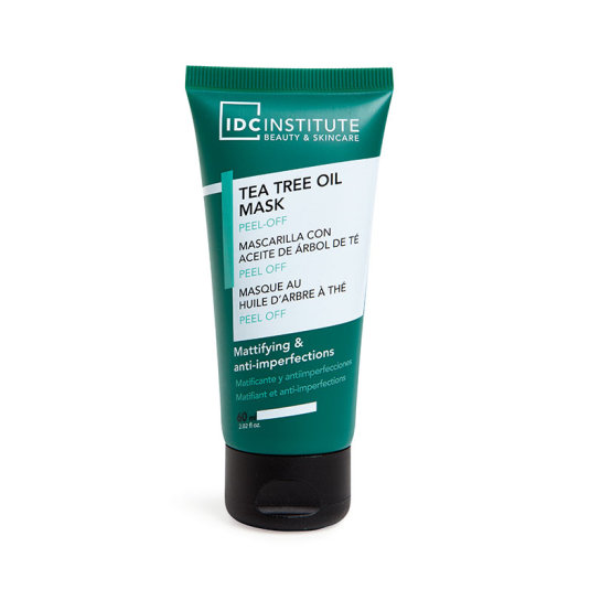 idc institute mascarilla facial con aceite de arbol de te matificante y anti-imperfecciones 60ml
