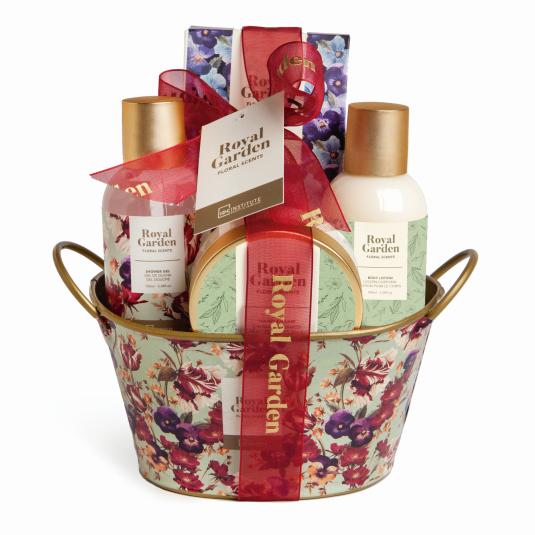 idc institute royal garden cesta de baño 4 piezas