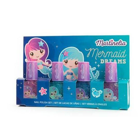 idc martinelia mermaid set laca uñas infantil 4 piezas