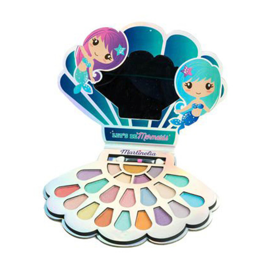 idc martinelia mermaid beauty shell paleta de ojos infantil