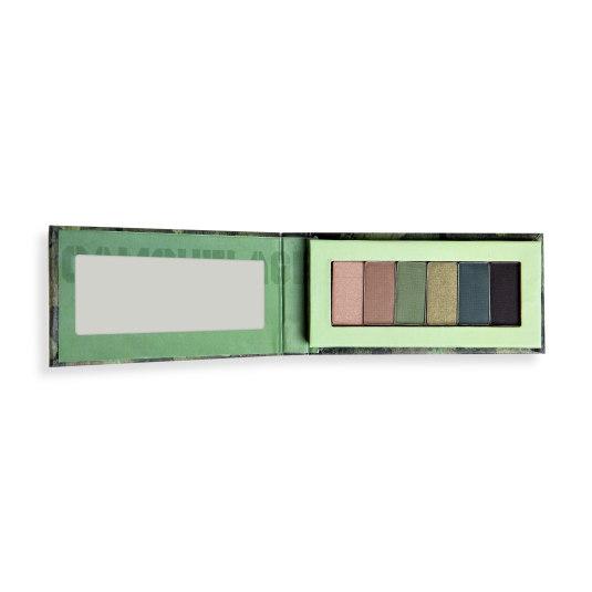 idc magic studio camouflage paleta de 6 sombras de ojos