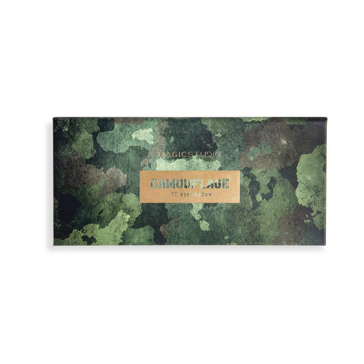 idc magic studio camouflage paleta de 12 sombras de ojos